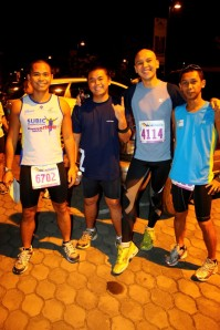 With Carlo, Bryan and Pat before the race